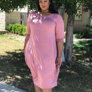 36a55ef1e2 Dresses   Skirts - Pink  Mauve Dress With Pockets